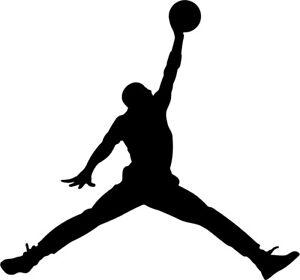 "Air Jordan Jumpman Logo 4""  VINYL DECAL Michael Jordans MJ 23 Die Cut Sticker"