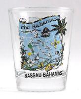 NASSAU BAHAMAS MAP SHOT GLASS SHOTGLASS
