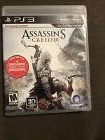 Assassin's Creed III (Sony PlayStation 3, 2012) ✅CIB/Complete ✅Tested