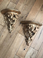 American Plaster Gold Wall Sconces (a Pair)