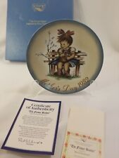 """Schmid Mothers Day 1982 """"The Flower Basket"""" Collectible Plate Hummel"""