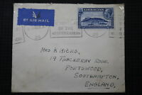 GIBRALTAR TO UK 1936 AIRMAIL THE TRAVELKEY OF MEDITERRANEAN A95 DAIR67