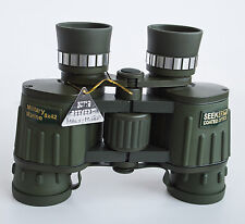 8x42 military binoculars with extra large eye lenses.