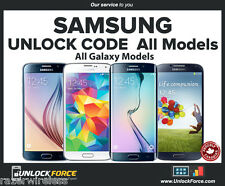 Fido Rogers Samsung Unlock Code Galaxy S4 S5 S6 S7 S8 Note 3 5 Alpha Core Plus