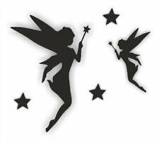 Fairy and Star Sticker Pack  Black Self Adhesive wall car van etc easy apply diy