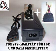 Netzteil 12V 5V 2A IDE + SATA Festplatte CD DVD S-ATA Laufwerk + Stromkabel