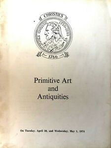 Christie's Primitive Art And Antiquities 30 April & 1 May 1974 Egyptian Greek