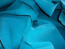 "TURQUOISE NO STRETCH VELVET FELT 54""W FABRIC CRAFT BAG HAT SHOES"