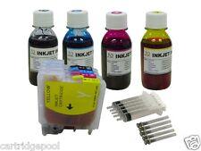 Refillable ink cartridge forBrother LC61 MFC-J415W MFC-J615W MFC-J630W + 4X4OZ/S
