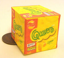 1:12th Closed Empty Cheese Quavers Box Doll House Miniature Shop Accessory