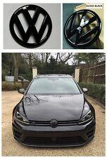 VW GRILLE & HATCH Badge Combo FOR VOLKSWAGEN GOLF 7 MKVII GTI R Line GLOSS BK