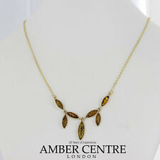 Italian Made Elegant Green Baltic Amber Necklace in 9ct Gold-GN0052G  RRP£325!!!