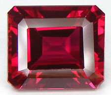 30% DE REDUCTION 13,93CT. RUBIS SANG DE PIGEON DE SYNTHESE T. EMERAUDE 14x12 MM.
