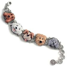 NEW SWEET ROMANCE DOG LOVERS BRACELET ~HAND-PAINTED ~~MADE IN USA ~~
