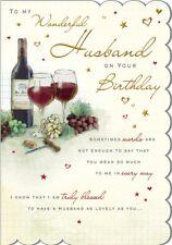 HUSBAND BIRTHDAY CARD - QUALITY CARD - WINE DESIGN & BEAUTIFUL VERSE