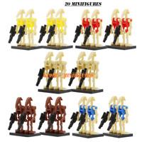 Sale 20 pcs/lot Minifigures Custom MOC Star Wars Super Battle Droid Toys 2020