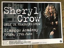More details for sheryl crow - rare concert/gig poster, glasgow - june 2008