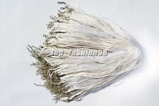 wholesale 20pcs White Organza Ribbon Necklace Silk Cord Clasp 450mm FREE