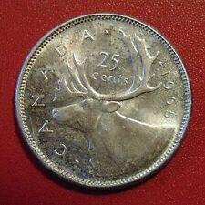 1965 CANADA silver quarter dollar twenty five 25 cents cent piece