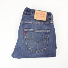 Mens Vintage LEVIS 501 Denim Jeans W32 L30 Regular Straight Leg | Dark Blue
