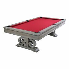 Barnstable 8' Weathered Grey Oak Pool Table w/ Dining Top FREE SHIPPING