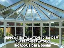Supply & Installation of Solar Film to 3m x 3m Glass Conservatory Inc 10yr Guar