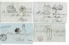 England Lot By 4 Vorphila Faltbriefen Ca 1850 - 1855 All Nach Pais Used