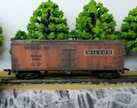 HO Scale Custom Painted Weathered Train Freight Box Wilson Car Lines WCLX