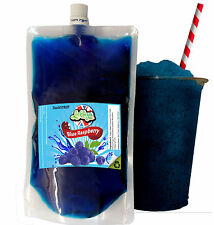 Blue Rasperry Slush Syrup x 250ml slush puppy style Pouch maker for home use