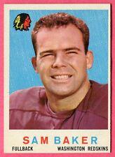 1959 Topps Sam Baker #175 (exmt) Washington Redskins (no creases/sharp)