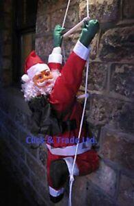 SOL90 NEW 90cm Santa Climbing Rope Ladder Outdoor Christmas Garden Decoration