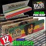 12 BOB MARLEY King Size Pure Hemp Rolling papers NEW