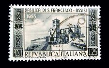 Italy Stamp 1955 / 700th. Anniversary of the Basilica of Assisi