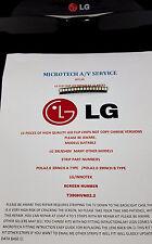 LG 39LN540V   T390HVN02.2  25 PIECE FLIP LED REPAIR KIT READ ADVERT