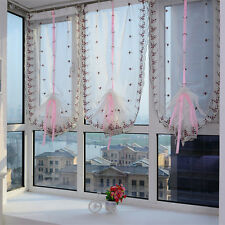 Embroidered Flower Tulle Window Screens Door Balcony Curtain Sheer Scarf Tide