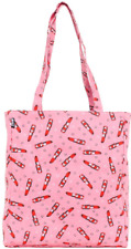78097 Pink Lipstick Heart Tote Bag Purse Sourpuss Makeup Pinup Retro Rockabilly