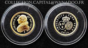 FDC/PROOF Demi-Louis d'Or 1775. Nouvelle Frappe.Or/Gold 375°- 1,95gr. En capsule