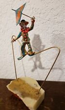 "Ron Lee ""tight rope "" with Bozo the Clown on a wire Sculpture - Signed"