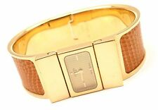 HERMES LOQUET GOLD HARDWARE SNAKE EMBOSSED LADIES WATCH