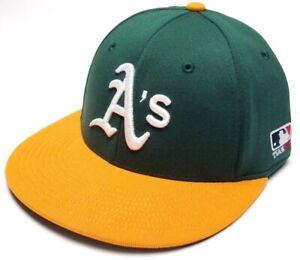 Oakland Athletics A's MLB OC Sports Flat Hat Cap Proflex Stretch Flex Fit Adult