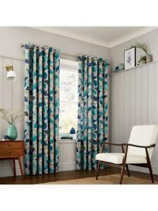 Clarissa Hulse Lined Eyelet Curtains Sz 168x229cm RRP £140.00