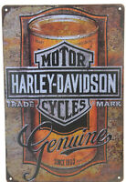 "Harley Davidson Motorcycle OIL CAN QUART  Garage Retro Metal Tin Sign 8x12"" NEW"