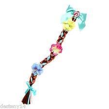 Disney Princess Ariel Faux Hair Braid Barrette The Little Mermaid Flowers New