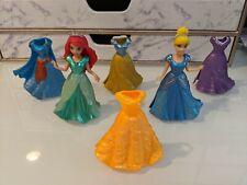 Disney Princess Magiclip Dolls Lot of 6 Dresses and 2 Dolls