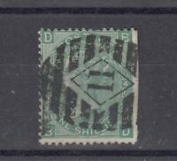 GB QV 1/- 1867 Green SG115 Plate 7 VFU J9131