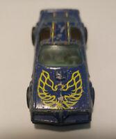 RARE 1980 HOT WHEELS  POST REDLINE ERA BLUE HOT BIRD SMOKEY AND THE BANDIT BW's