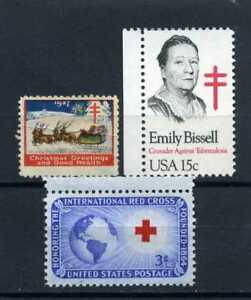 RED CROSS/52 CHRISTMAS SEAL  1927,-''EMILY BISSEL {Introducer Seals}    U.S.rare