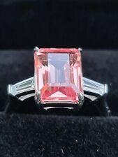 Natural Padparadscha Sapphire 6.03 Ct  fine Gemstone ringsize  M