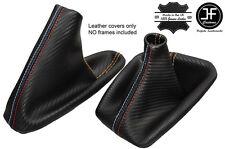 BEIGE CUCITURE CARBON VINILE CUFFIA LEVA E FRENO PER BMW E90 E91 E92 E93 M///