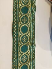 """Church religious trim galloon  """"Circle""""  2"""" (5cm) wide GREEN/GOLD for Vestments"""